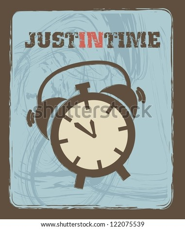 clock icons over blue background. vector illustration - stock vector