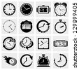 Clock icons.Time icons set. - stock photo