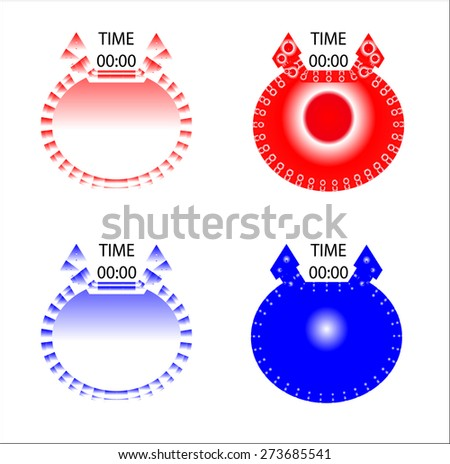 Clock icons,Vector - stock vector