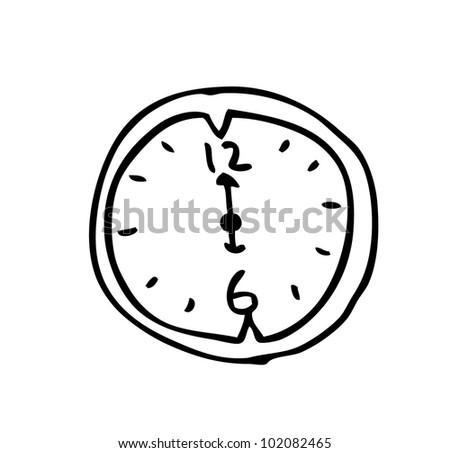 clock illustration - stock vector
