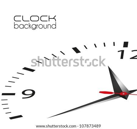 clock illustration isolated on white background, vector illustration - stock vector