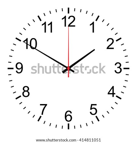 clock  isolated on white vector  - stock vector