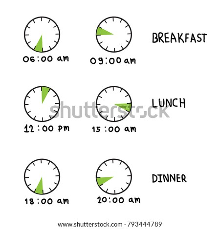Lunch Symbol Time Isolated Stock Images Royalty Free