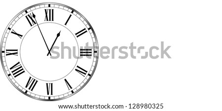 Clock old fashioned. vector - stock vector