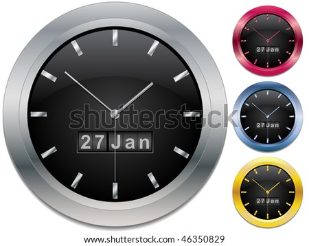 Clock on the wall - stock vector