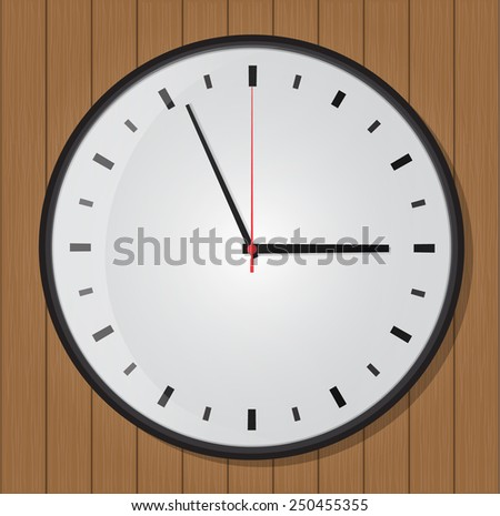 clock on wood background