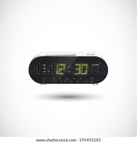Clock Radio. realistic - vector Illustration - stock vector