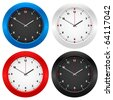 Clock set isolated on white background. Vector illustration. - stock vector