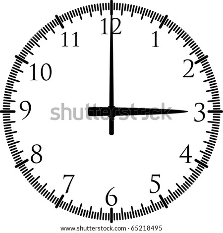 clock silhouette - stock vector