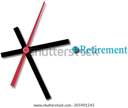 Clock ticking time running out on retirement financial planning - stock vector