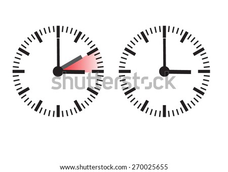 clock time change  - stock vector