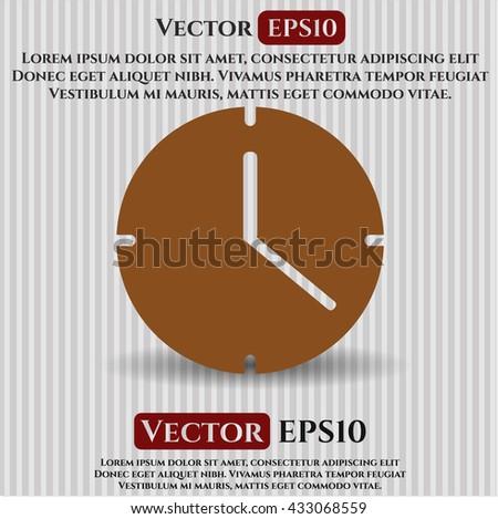 Clock (Time) icon, Clock (Time) icon vector, Clock (Time) icon symbol, Clock (Time) flat icon, Clock (Time) icon eps, Clock (Time) icon jpg, Clock (Time) icon app, Clock (Time) web icon - stock vector