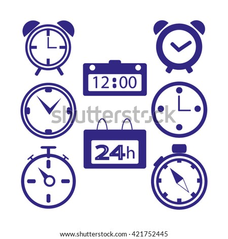 clock, time. Web icons - stock vector