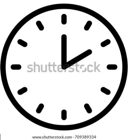 clock vector image Clock Vector Icon Stock Vector (Royalty Free) 709389334 - Shutterstock