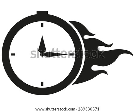 Clock vector icon - Fire - stock vector
