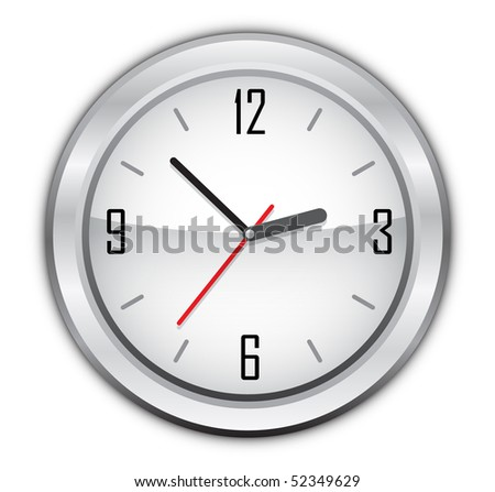 clock vector illustration - stock vector