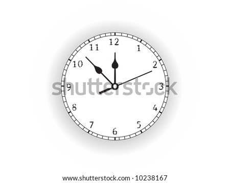 clock vector illustration isolated on white