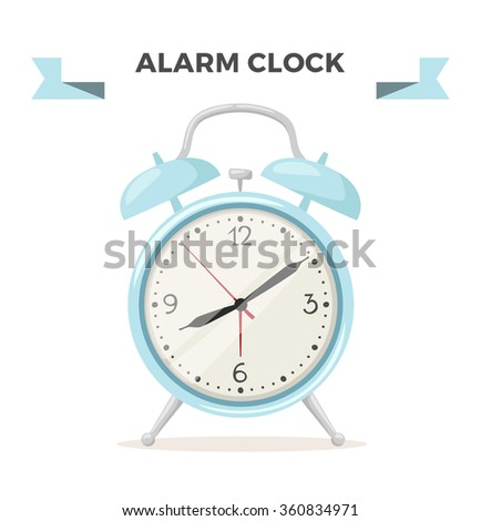 Clock watch alarm vector icon object illustration. Clock icon isolated on background. Clock watch silhouette. Modern style clock alarm. Time alarm watch flat style icon symbol isolated - stock vector