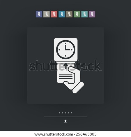 Clocking-in card icon - stock vector