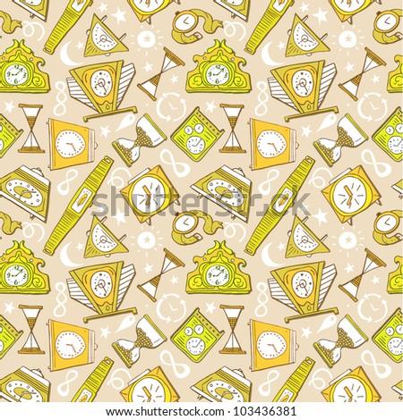 clocks  seamless pattern - stock vector
