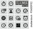Clocks, time icons set. - stock vector