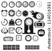 Clocks, time icons set. Vector EPS8 - stock vector