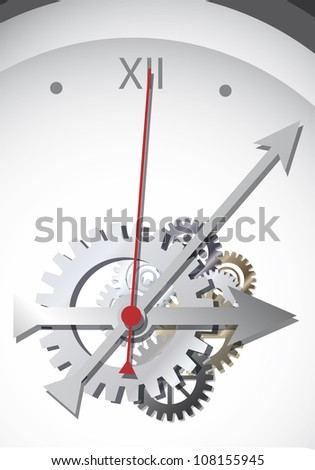 Clockwork Vector.Eps10 .Image contain transparency and various blending modes - stock vector