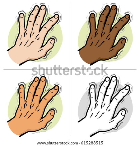 Close Part Body Pair Hands Shaking Stock Vector 615288146