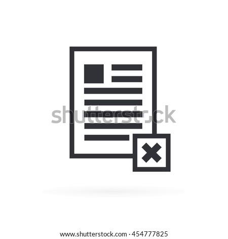 Close Document Icon - stock vector