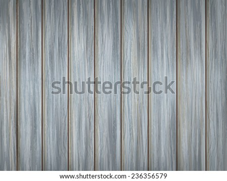 close-up look at blue wooden plank texture background  - stock vector