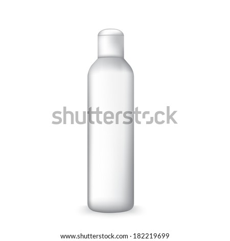 close up of a white bottle on white background  - stock vector