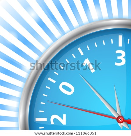 Close-up of clock with number 2013, new year card, vector eps10 illustration - stock vector