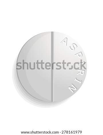 Close up of one pill - stock vector
