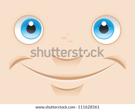 Close Up Smile - stock vector