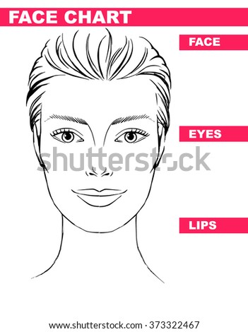Close woman portrait makeup artist blank stock vector 373322467 close up woman portrait makeup artist blank template face chart vector illustration pronofoot35fo Gallery