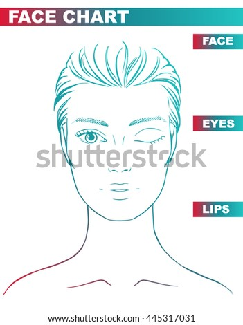 Close Woman Portrait Makeup Artist Blank Stock Vector 445317031 ...
