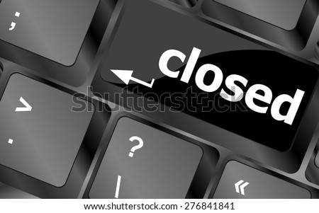 closed button on computer keyboard pc key vector - stock vector