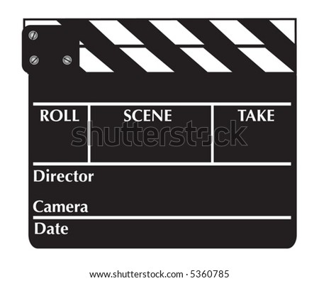 Closed clapboard. Vector illustration - stock vector