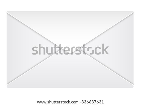 Closed envelope on a white background. Vector illustration. - stock vector