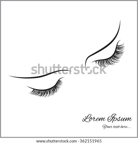 Sketch Of Eye Lashes Coloring Pages