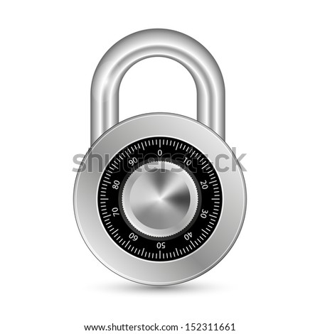 Closed Padlock - stock vector