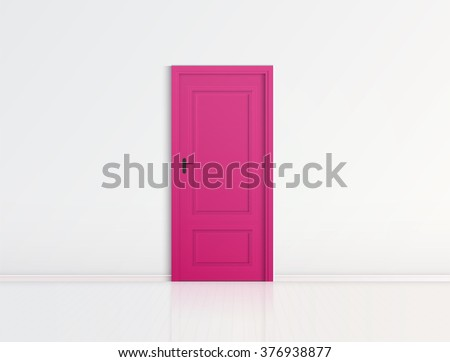 Closed pink door with frame Isolated on background vector design : pink door - pezcame.com