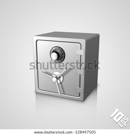closed safe icon - stock vector