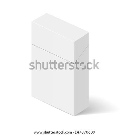 Closed White Pack of cigarettes. Illustration on white - stock vector