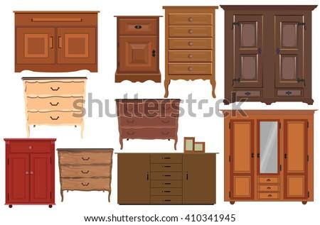 Closet collection - stock vector