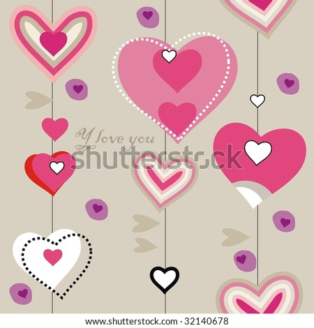 closeup heart pattern