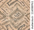 closeup illustration of a patterned snake skin. - stock photo