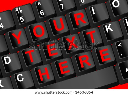 Closeup view of a pc keyboard vector illustration - stock vector