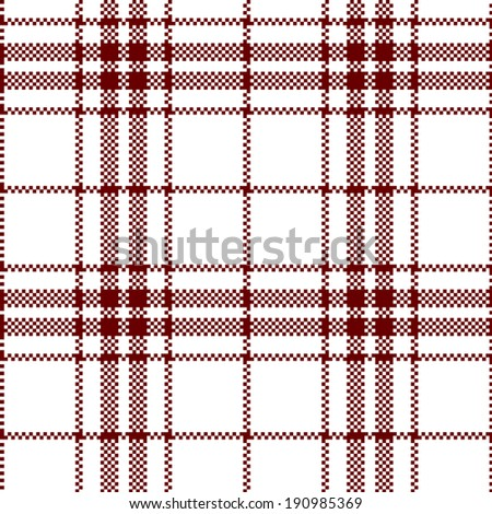 Cloth Pattern ( Square, Red ) - stock vector