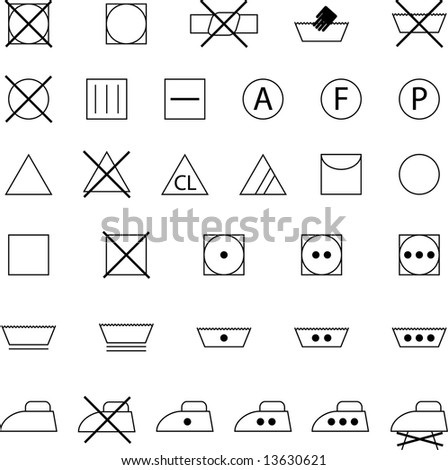 clothes conservation icons set - stock vector
